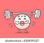 vector illustration of donut...   Shutterstock .eps vector #430959337