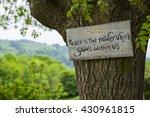 a philosophical sign inspiring... | Shutterstock . vector #430961815