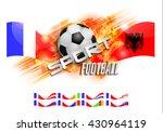 design football orange...   Shutterstock .eps vector #430964119