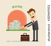credit. a bank gives out a loan ... | Shutterstock .eps vector #430969501