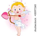 vector illustration of cute... | Shutterstock .eps vector #43097260