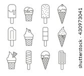 vector line ice cream... | Shutterstock .eps vector #430973041
