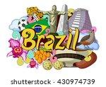 vector illustration of doodle... | Shutterstock .eps vector #430974739