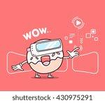 vector illustration of smile... | Shutterstock .eps vector #430975291
