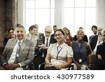 meeting seminar conference... | Shutterstock . vector #430977589