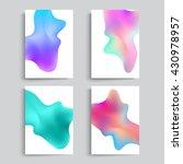 fluid colors backgrounds set....   Shutterstock .eps vector #430978957