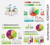 ecology business statistics set | Shutterstock .eps vector #430995169