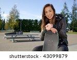 cute skater girl | Shutterstock . vector #43099879