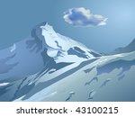 vector snowy mountains with... | Shutterstock .eps vector #43100215