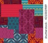 bandanna patchwork fabric...   Shutterstock . vector #431003989