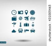 travel icons set | Shutterstock .eps vector #431005465