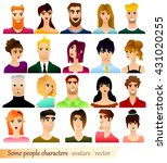 some people characters and... | Shutterstock .eps vector #431020255