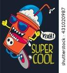 cool milkshake skater vector... | Shutterstock .eps vector #431020987