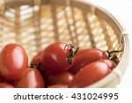 red shiny cherry tomatoes... | Shutterstock . vector #431024995