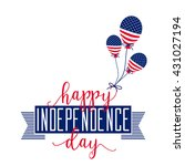 4th of july background. fourth... | Shutterstock .eps vector #431027194