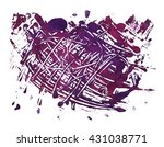 background purple blob smeared... | Shutterstock . vector #431038771