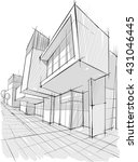 architectural drawing. | Shutterstock .eps vector #431046445