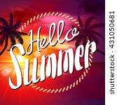 summer. sunset beach.  | Shutterstock .eps vector #431050681