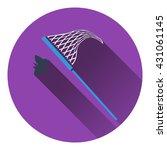 icon of butterfly net. flat...