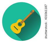 icon of acoustic guitar. flat...