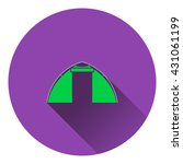 icon of touristic tent. flat...