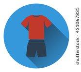 icon of fitness uniform . flat...