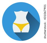 icon of slim waist . flat...