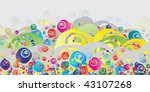abstract colorful  grunge... | Shutterstock .eps vector #43107268