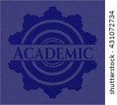 academic badge with jean texture | Shutterstock .eps vector #431072734