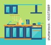 modern kitchen interior   Shutterstock .eps vector #431073889