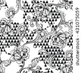 eclectic fabric seamless... | Shutterstock .eps vector #431075059