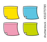 sticky note vector icon in... | Shutterstock .eps vector #431075785