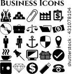 25 businessicon set. universal... | Shutterstock .eps vector #431078104