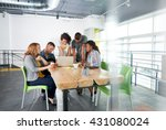 multi ethnic group of succesful ... | Shutterstock . vector #431080024
