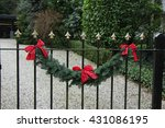 classic steel fence decorated... | Shutterstock . vector #431086195
