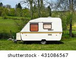 Old Fashioned 1980s Caravan On...