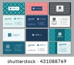 visiting card and business card ... | Shutterstock .eps vector #431088769