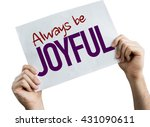 always be joyful placard... | Shutterstock . vector #431090611