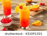 juicy orange and red tequila... | Shutterstock . vector #431091331