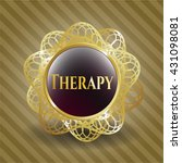 therapy gold badge or emblem | Shutterstock .eps vector #431098081
