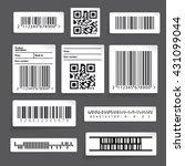 barcode sticker set vector | Shutterstock .eps vector #431099044