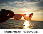 sunset through sunglasses | Shutterstock . vector #431099281
