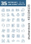 set vector line icons in flat... | Shutterstock .eps vector #431104135