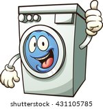 cartoon washing machine. vector ... | Shutterstock .eps vector #431105785