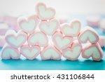 Pink Marshmallow In Heart Shape ...