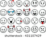 set of different smileys vector.... | Shutterstock .eps vector #431107429