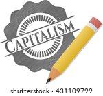 capitalism pencil strokes emblem | Shutterstock .eps vector #431109799
