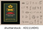 restaurant food menu on... | Shutterstock .eps vector #431114041