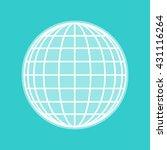 earth globe sign | Shutterstock . vector #431116264