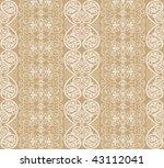 beige arabesque background - stock photo